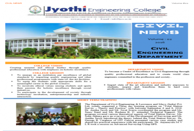Civil Engineering | Jyothi Engineering College is a NAAC accredited